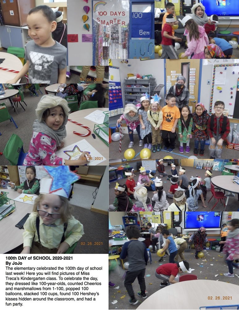 Elementary Celebrates 100th Day of School