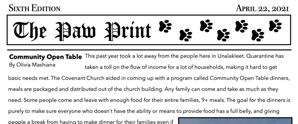 The Paw Print - April 22, 2021