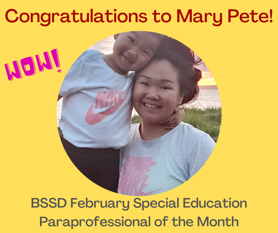 Paraprofessional Mary Pete and daughter