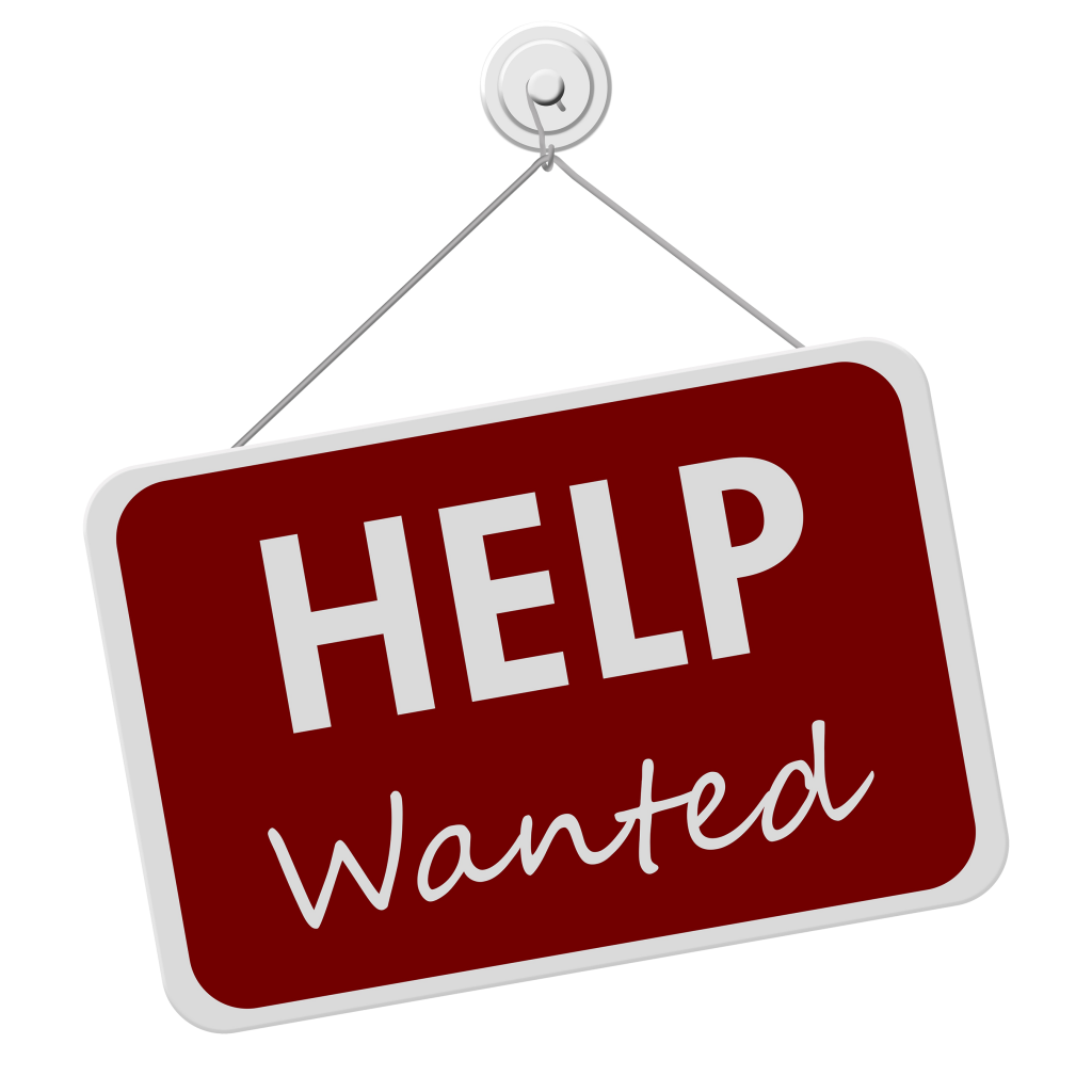 "A ""Help Wanted"" sign"